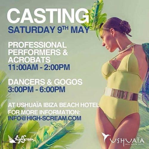 Casting in Ushuaïa Ibiza Beach Hotel