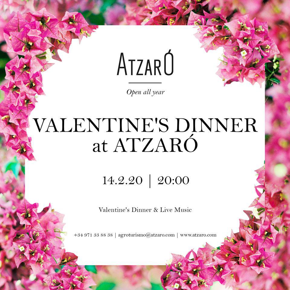 Busques pla per Sant Valentí? Atzaró Eivissa organitza una màgica Sopar de Sant Valentí