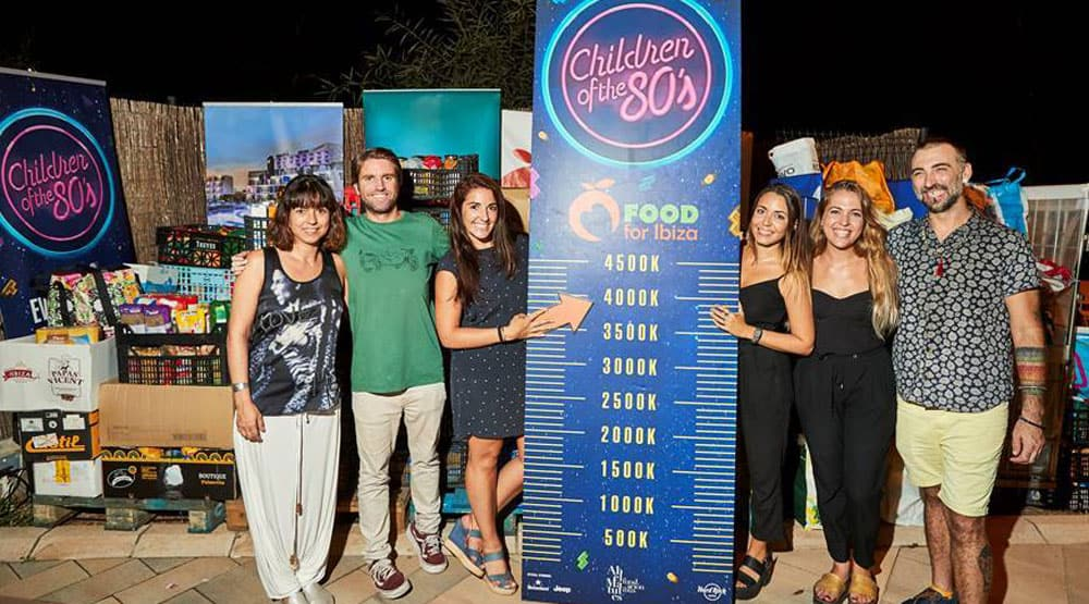 More than 3.700 Kg of food for Food For Ibiza thanks to Children of the 80's
