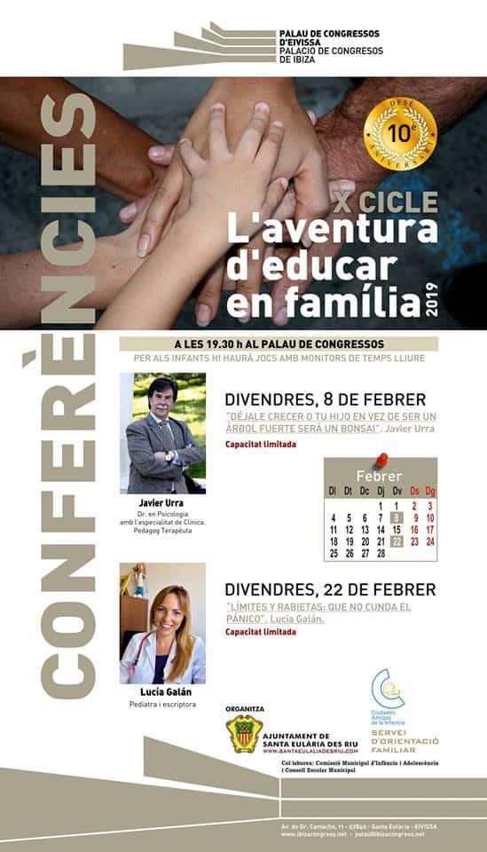 """El Palau de Congressos d'Eivissa acull un nou cicle """"L'aventura d'educar en família"""""""