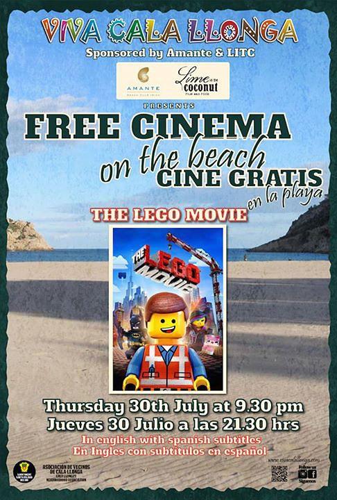 Kostenloses Kino am Strand von Cala Llonga an diesem Donnerstag