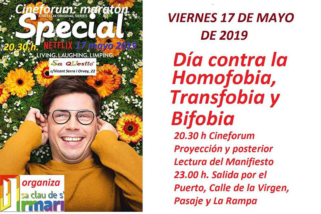 Cineforum gegen HTBiphobia in Sa Questió Ibiza