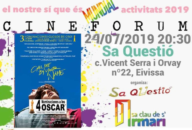 Call Me By Your Name: Cineforum de La Llave del Armario en Sa Questió Ibiza