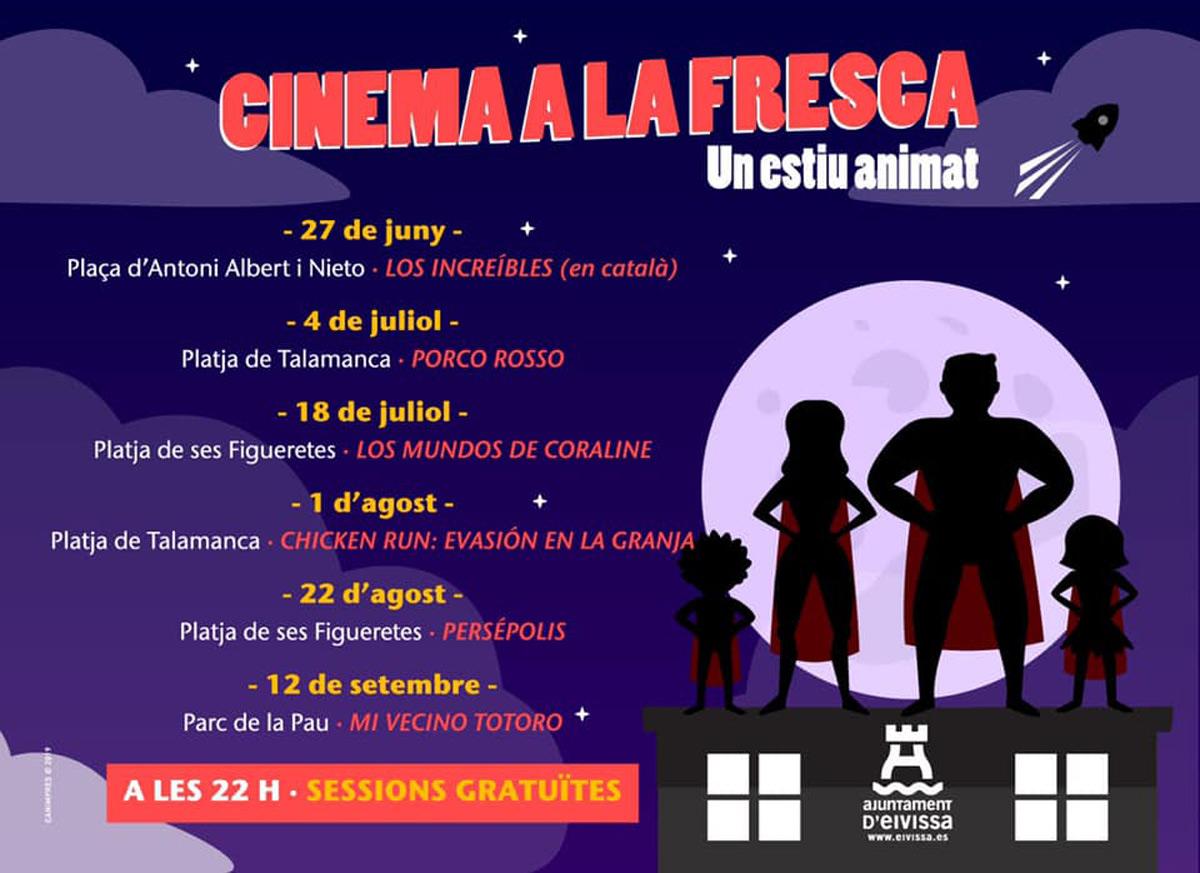 Kino a la Fresca: kostenloses Kino mit dem Rathaus von Ibiza