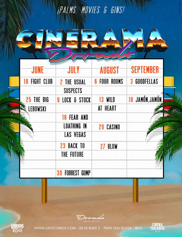 Cinerama Dorado: Cine al aire libre en Santos Ibiza cada domingo
