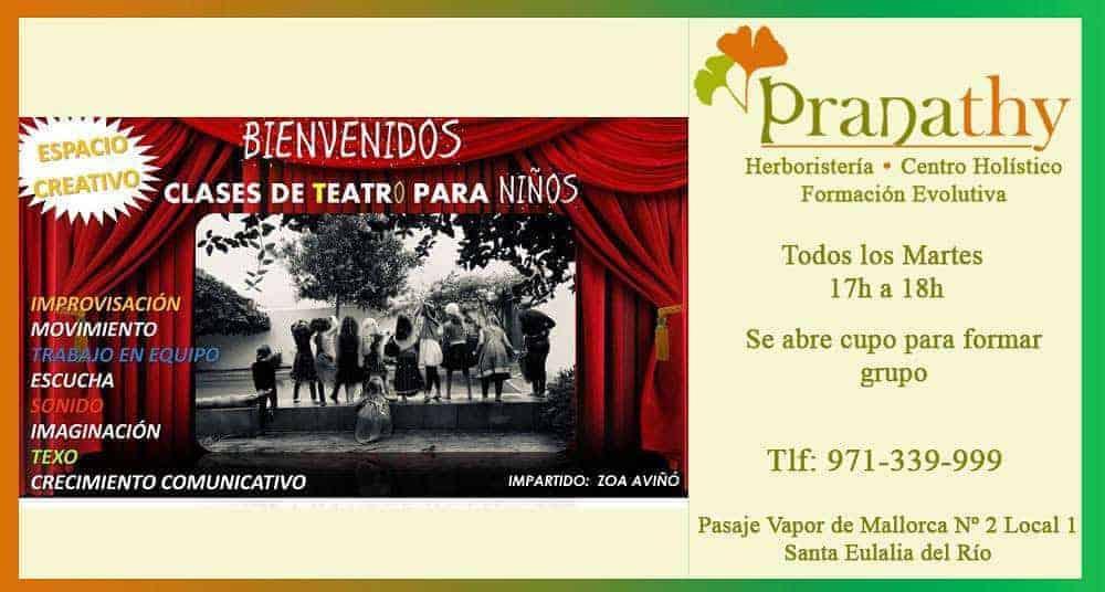 Clases de teatro para niños en Pranathy Ibiza