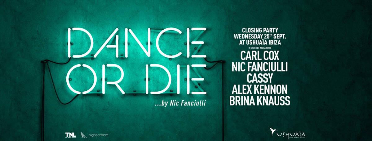 Closing of Dance or Die by Nic Fanciulli in Ushuaïa Ibiza