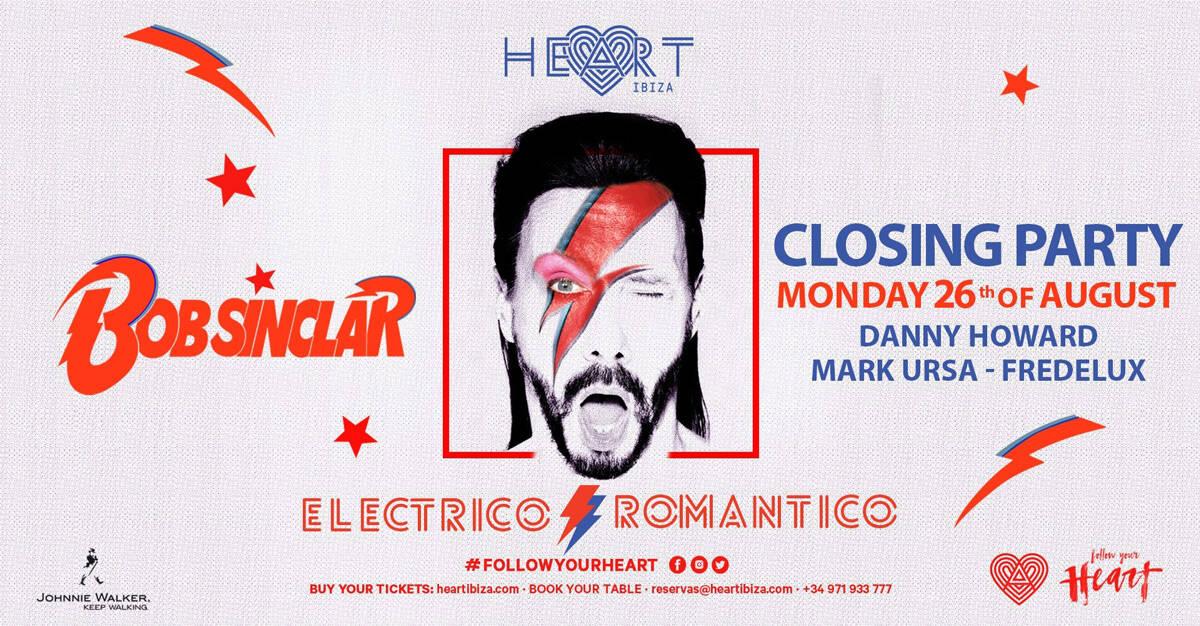 Fermeture électrique romantique par Bob Sinclar dans le cœur d'Ibiza