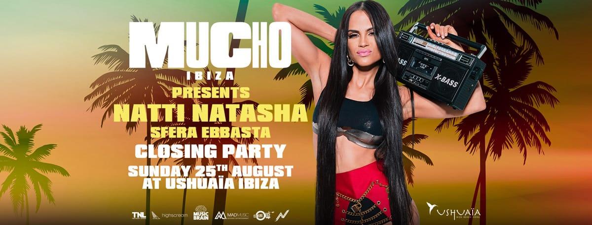 Beaucoup de fêtes de clôture d'Ibiza à l'hôtel Ushuaïa Ibiza Beach