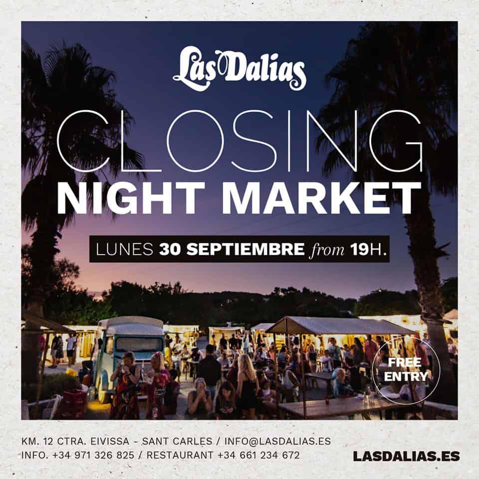 Fermeture du marché nocturne de Las Dalias Ibiza