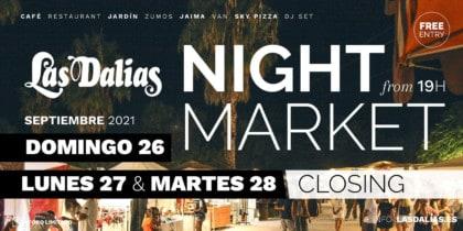 Sluiting van de avondmarkt van Las Dalias Ibiza Lifestyle