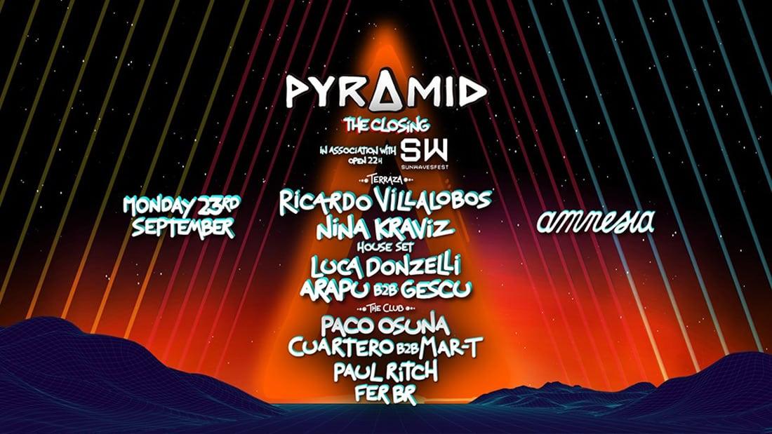 Closing de Pyramid con Sunwaves Festival en Amnesia Ibiza