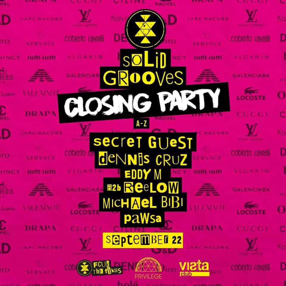 Solid Grooves fermant à Privilege Ibiza