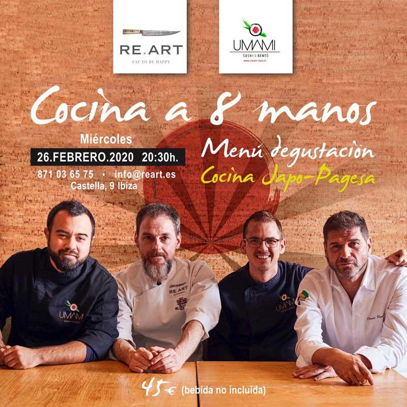Cuina a 8 mans: Irresistible menú japo-pagès de Umami i Re.Art Eivissa