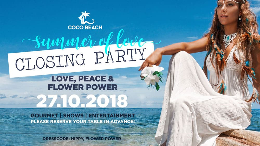 Закрытие вечеринки Coco Beach Ibiza