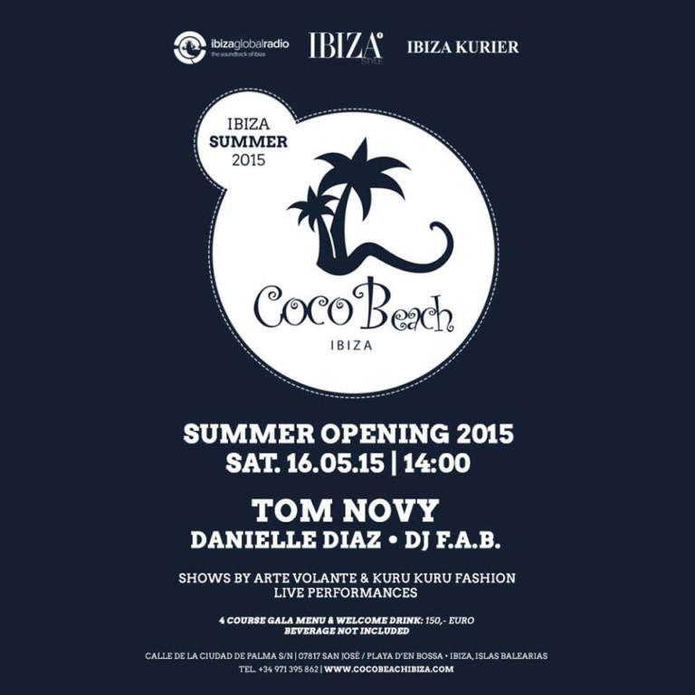 Coco Beach Opening Party 2015 aanstaande zaterdag