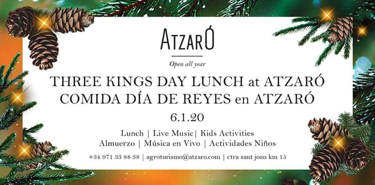 Dinar de Reis amb música i activitats infantils a Atzaró Eivissa