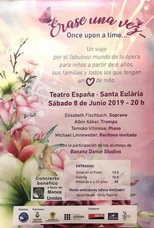 Benefizkonzert für Kinder im Teatro España in Santa Eulalia