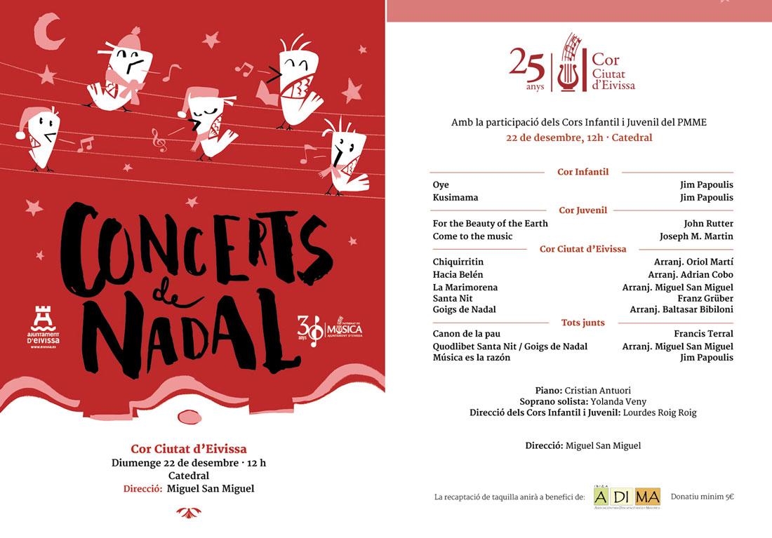 Weihnachtskonzert des Chores der Stadt Ibiza in der Kathedrale