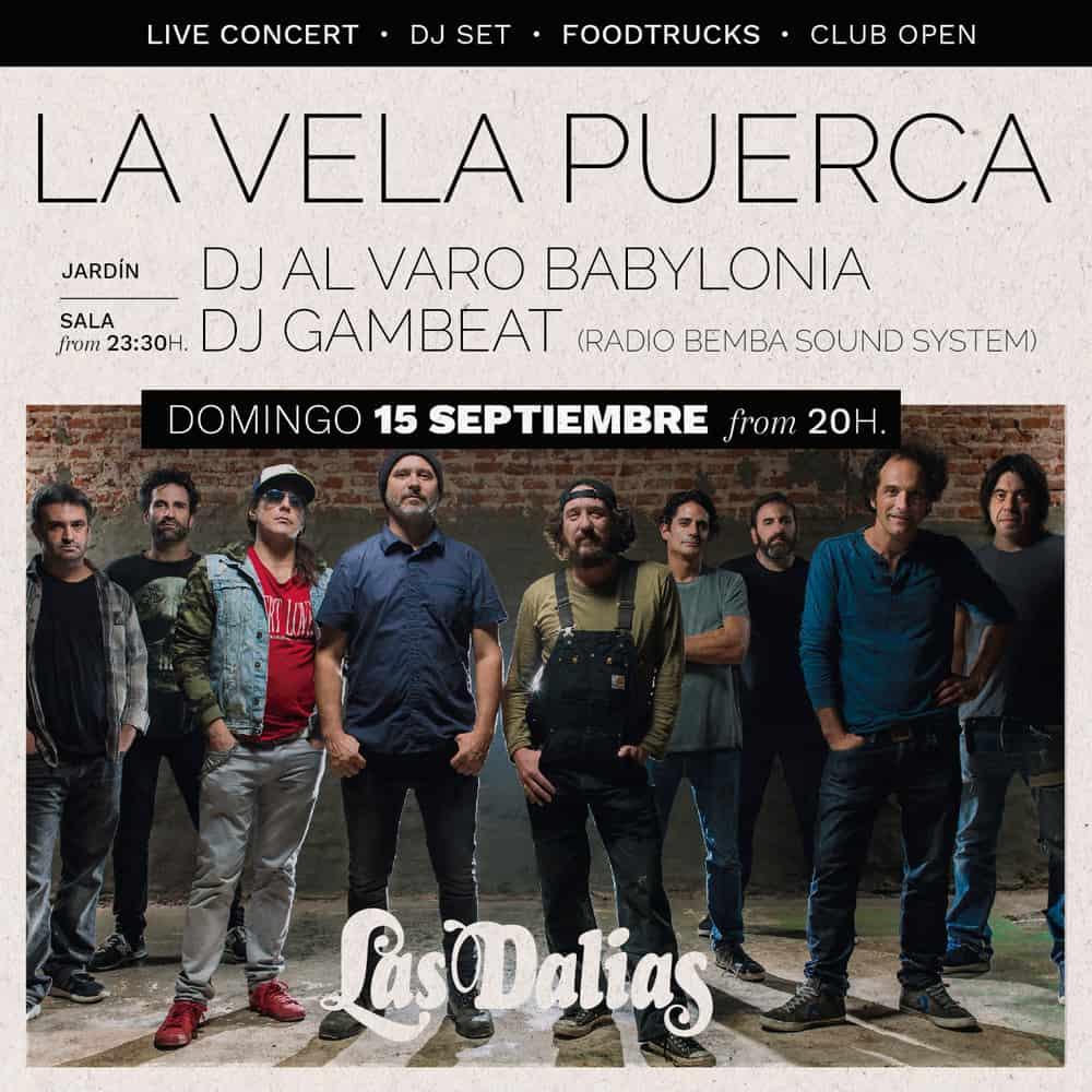 Концерт La Vela Puerca в Лас Далиас Ибица
