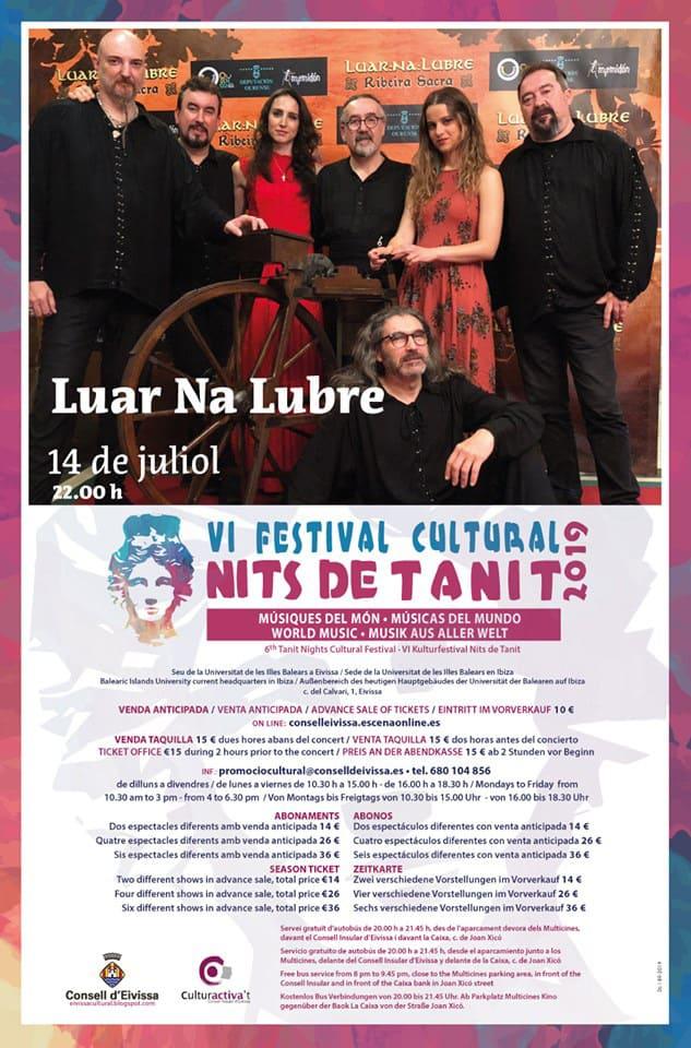 Luar Na Lubre at the Nits de Tanit Festival in Ibiza
