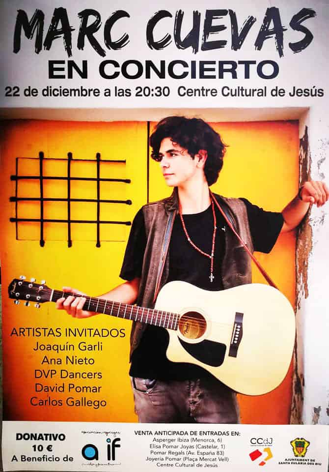 Concert de charité de Marc Cuevas au Centre Culturel de Jésus