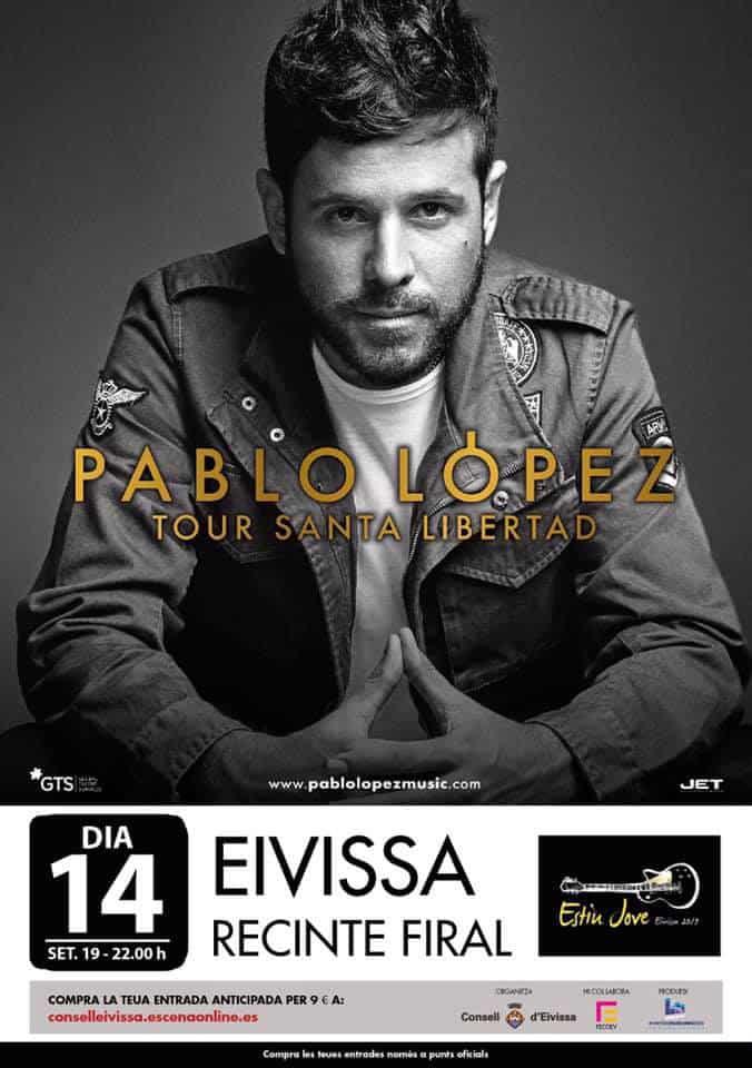 Concert de Pablo López au parc des expositions d'Ibiza