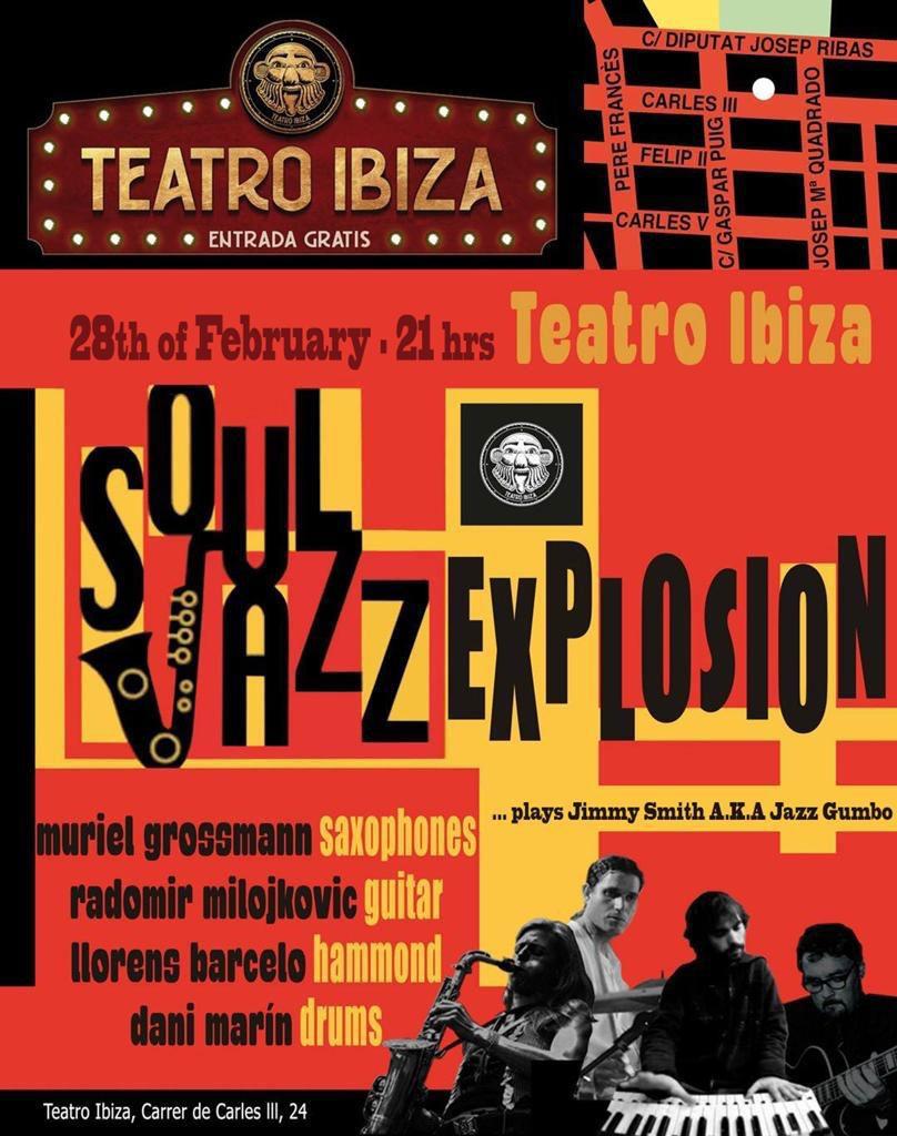 Концерт Soul Jazz Explosion в Театре Ибицы