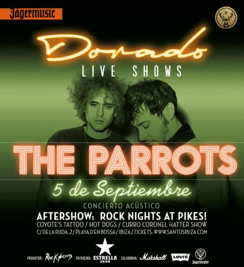Concert gratuit des perroquets à Santos Ibiza