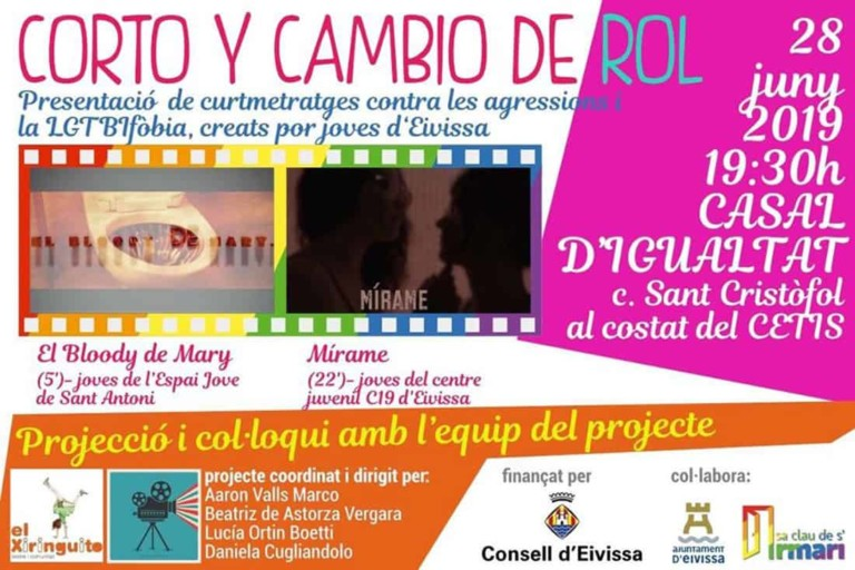 Corto y Cambio de Rol: Cortos LGTBQ en el Casal de Igualdad de Ibiza
