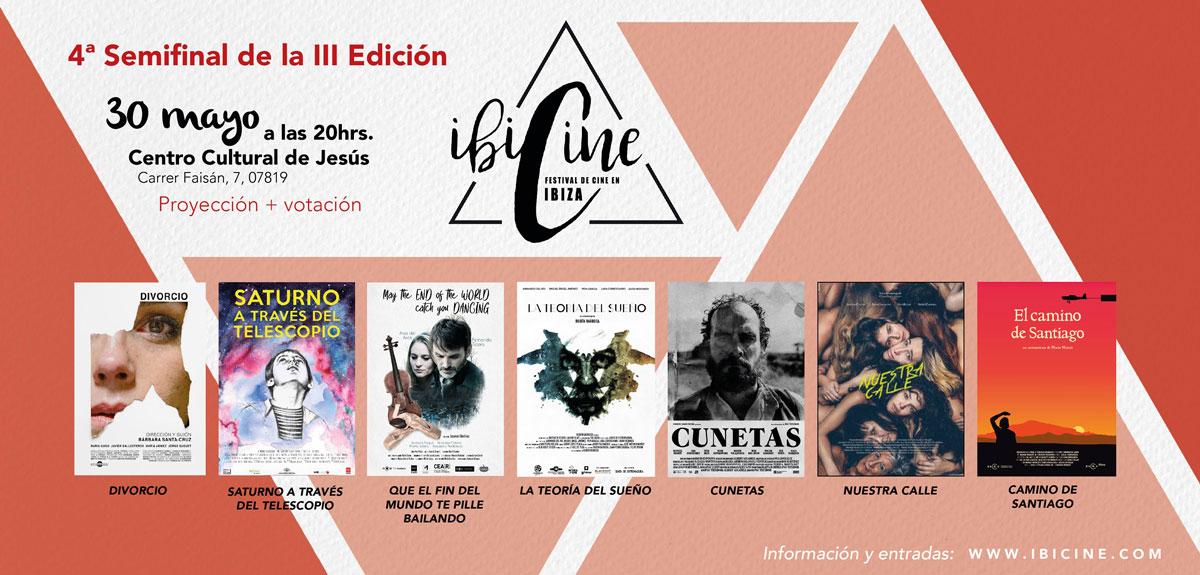 III Edición Ibicine 2019: 4ª Semifinal en el Centro Cultural de Jesús