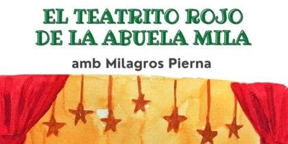 Красный театр Абуэлы Мила, рассказчик с Ногой Милагроса в Библиотеке мероприятий Ибицы