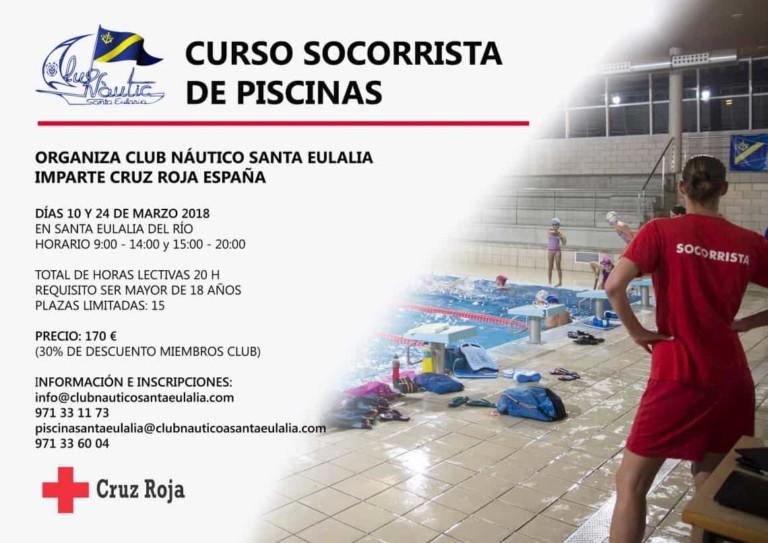 Croix-Rouge Santa Eulalia enseigne un cours de maître nageur pour les piscines