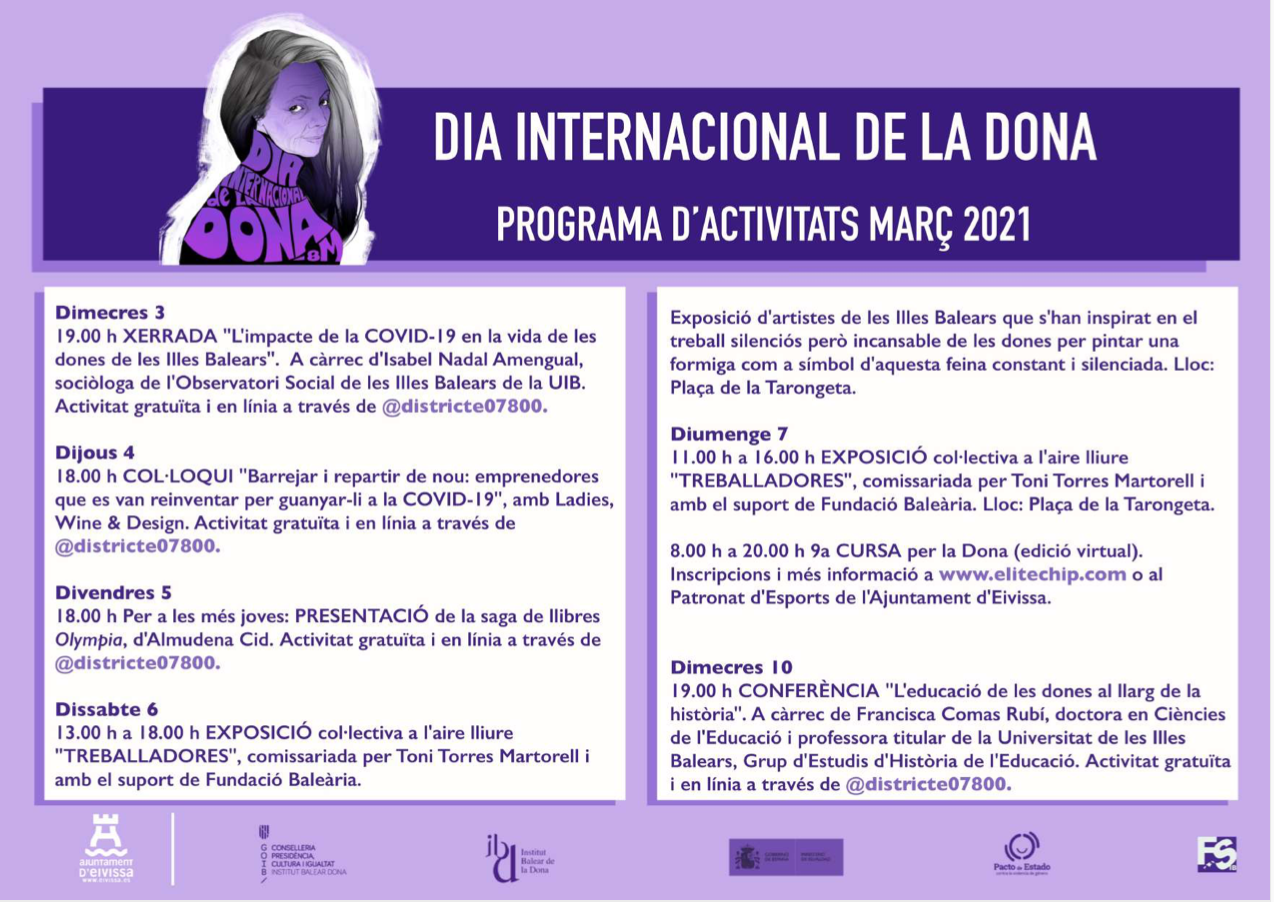 Activities to celebrate Women's Day in Ibiza: Ibiza Town Hall Activities