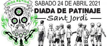 Il giorno di pattinaggio di Sant Jordi 2021 in primo piano