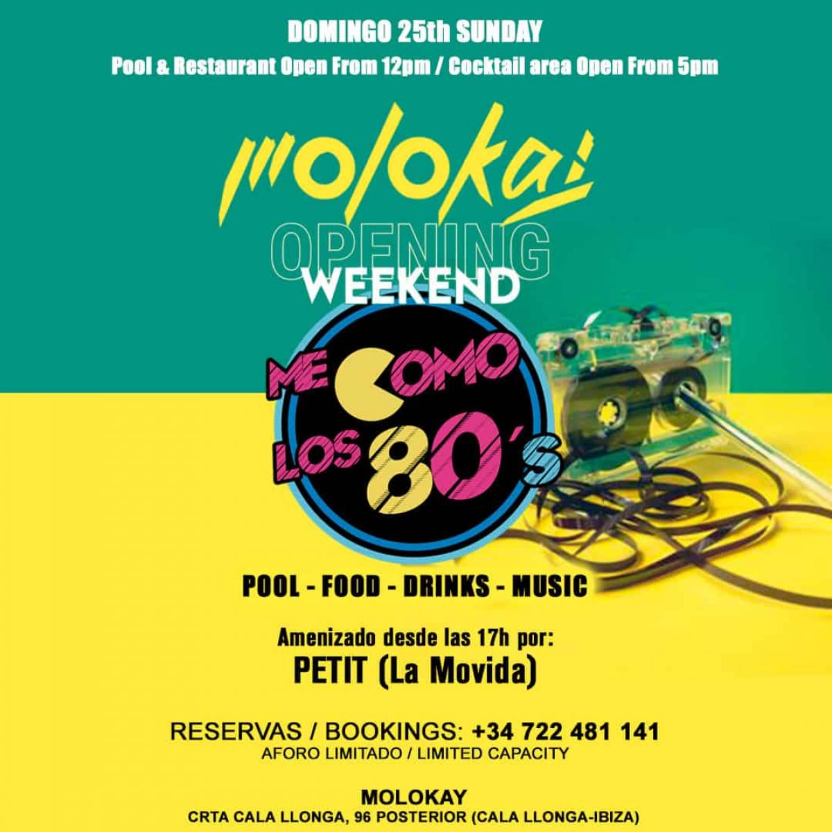 molokay ibiza 80s feest welkomtoibiza