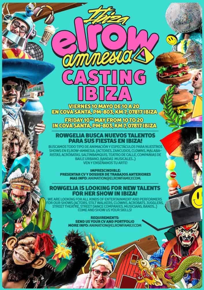 Travail à Ibiza 2019: casting d'Elrow Ibiza à Cova Santa Ibiza