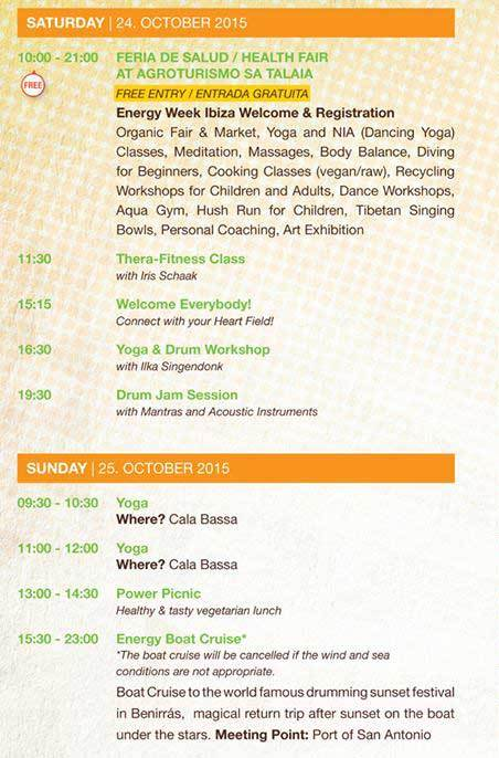 Energy Week en Agroturismo Sa Talaia Ibiza 2015