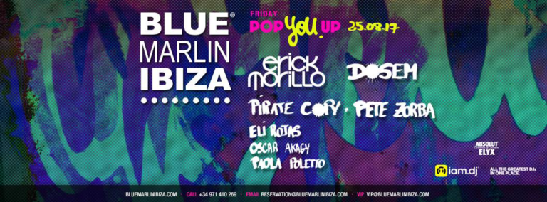 Эрик Морилло, звезда пятничного шоу Pop You Up на Blue Marlin Ibiza