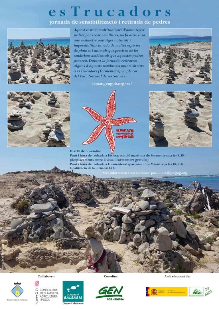 Jornada de sensibilización y retirada de piedras en Es Trucadors