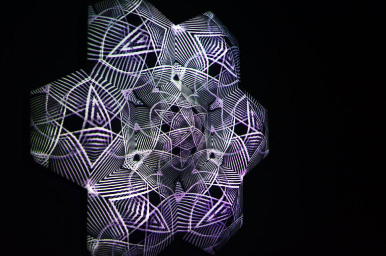 Esculturas de Luz de Nourathar en El Hotel de Pacha Ibiza