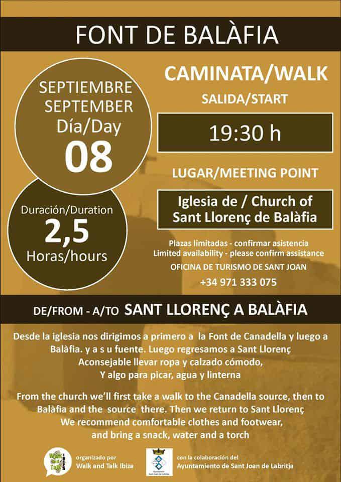 Excursión a la fuente de Balafia con Walk and Talk Ibiza