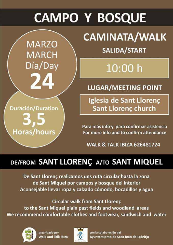 Excursión de San Lorenzo a San Miguel con Walk & Talk Ibiza