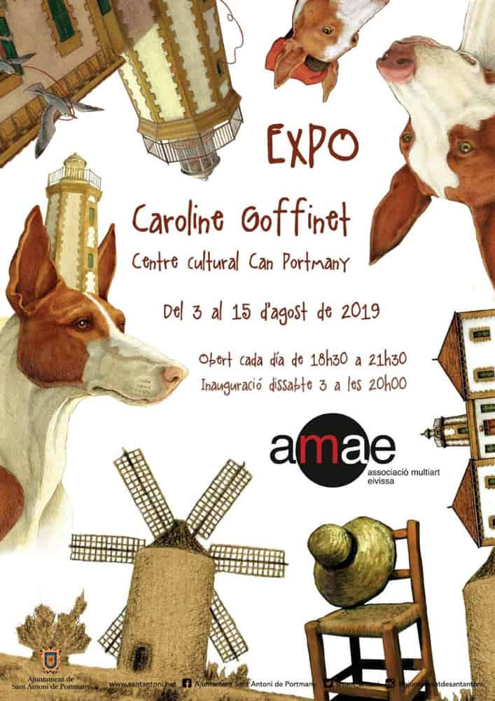 Exhibition of Caroline Goffinet in Can Portmany