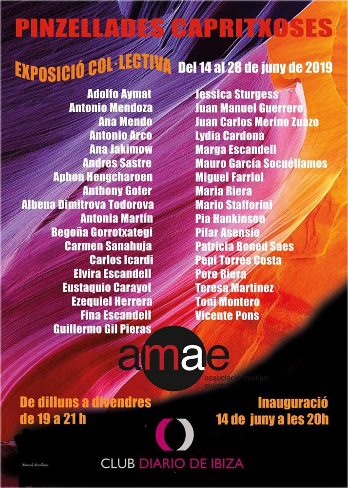Mostra collettiva dell'AMAE nel Club Diario de Ibiza