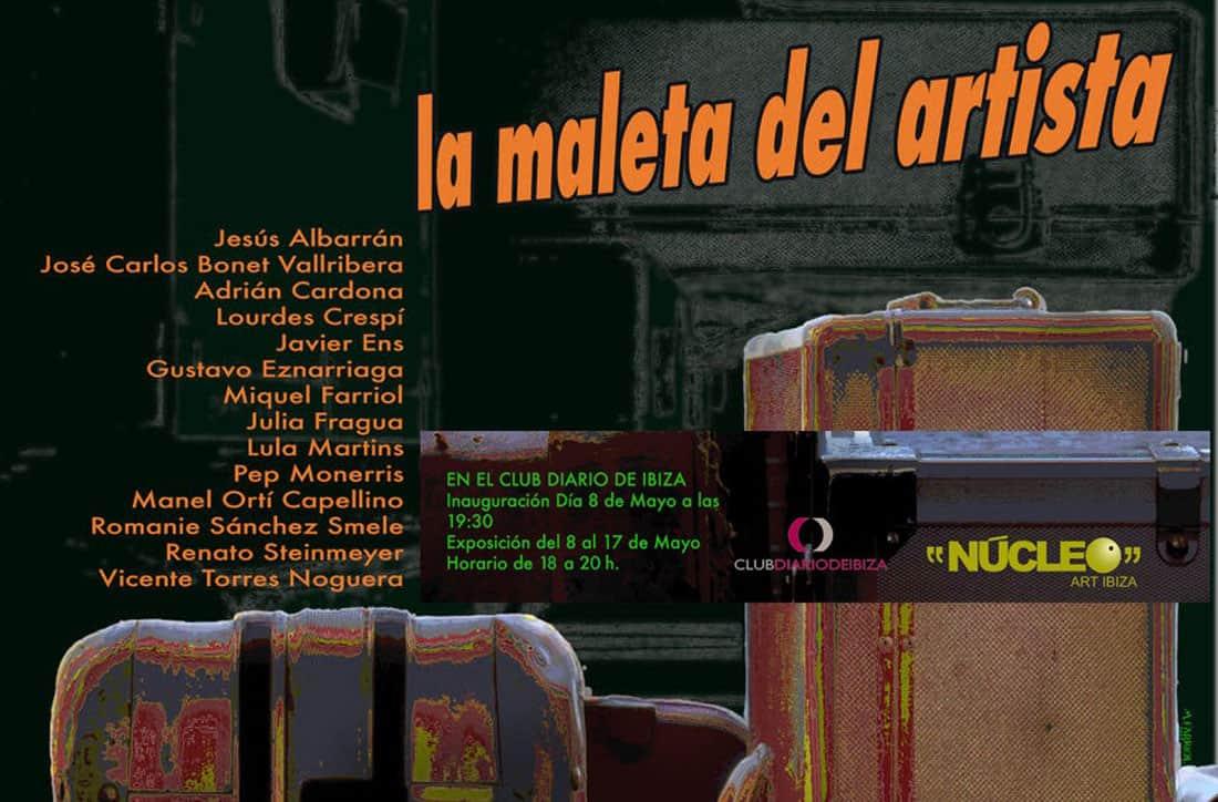 La maleta del artista: exposición colectiva en el Club Diario de Ibiza