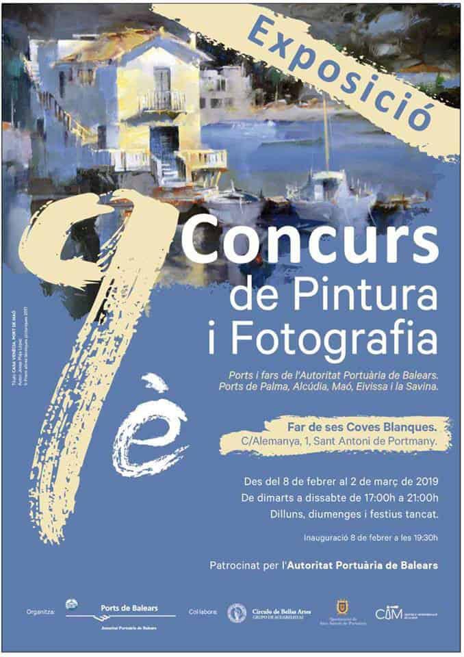 Exposición del 9º Concurso de Pintura y Fotografía de Puertos y Faros de Baleares