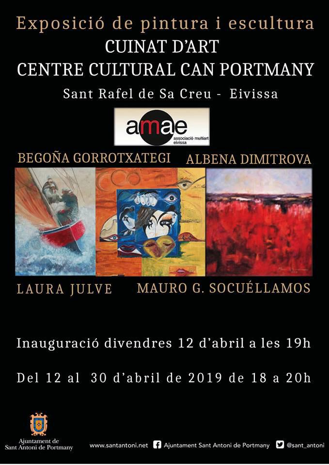 Exposición colectiva Cuinat d'Art en Can Portmany