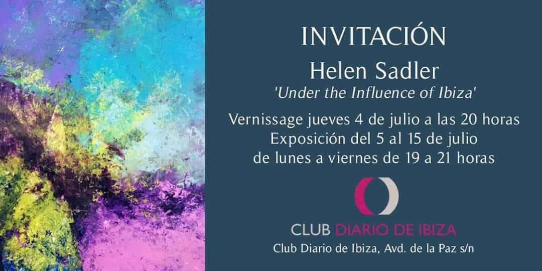 Exhibition of Helen Sadler at the Club Diario de Ibiza