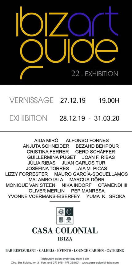 Collective Exhibition of Ibiza Art Guide at La Casa Colonial Ibiza